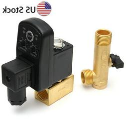 """110V 1/2"""" Automatic Electronic Timed 2 Way Air Compressor Ta"""