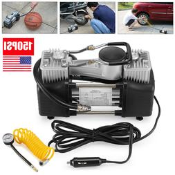Double Cylinder Air Pump Compressor 12V 150PSI Heavy Duty Ca