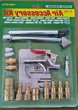 17 Piece Compressed Air Tool Accessory Kit Pneumatic Compres