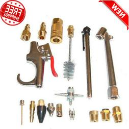 18 Piece Air Compressor Accessory Kit Tool Blow Gun for Stan