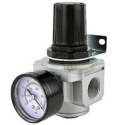 "3/4"" Air Compressor Pressure Regulator w/ Gauge Inline Indus"