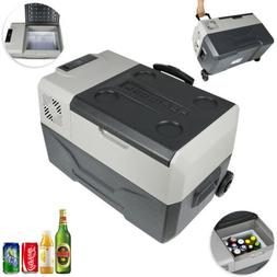 30L Portable Fridge Freezer Trolley&Wheel 24/12V Small Fridg