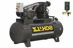 SCHULZ AIR COMPRESSOR 10HP 3 PHASE 120 GALLONS TANK - 40CFM