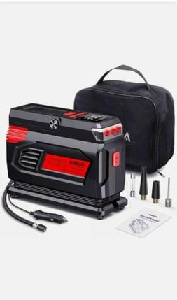 Audew Air Compressor Tire Inflator - 12V Heavy Duty Portable