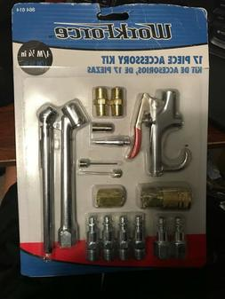 """Air Tool And Accessory Kit,1/4"""" NPT 17 Piece Air Compressor"""