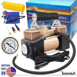 HEAVY DUTY 12V Portable Air Compressor For Car Tire Pump Inf