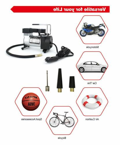 Tire Inflator Car Pump Compressor Auto 12V Volt PSI