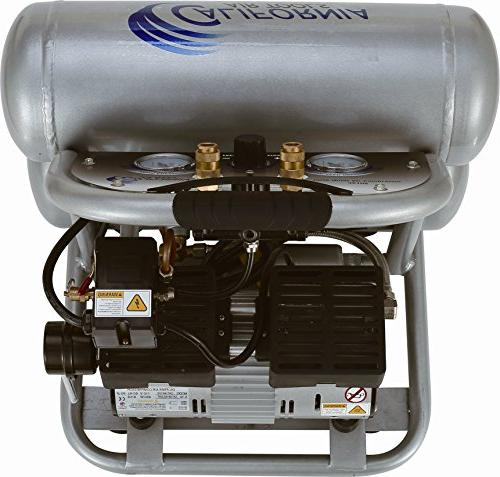 California Air Ultra Quiet 1.0 hp gallon Steel Twin Portable