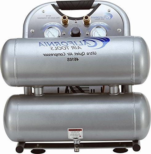 Ultra Quiet & 1.0 hp 4.6 Steel Twin Tank Portable Air