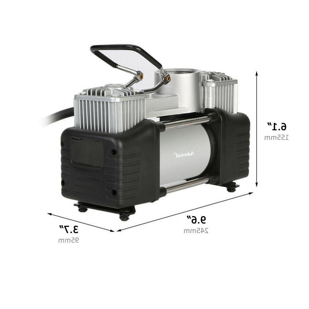 HEAVY DUTY Portable Air Compressor Inflator Double cylinder
