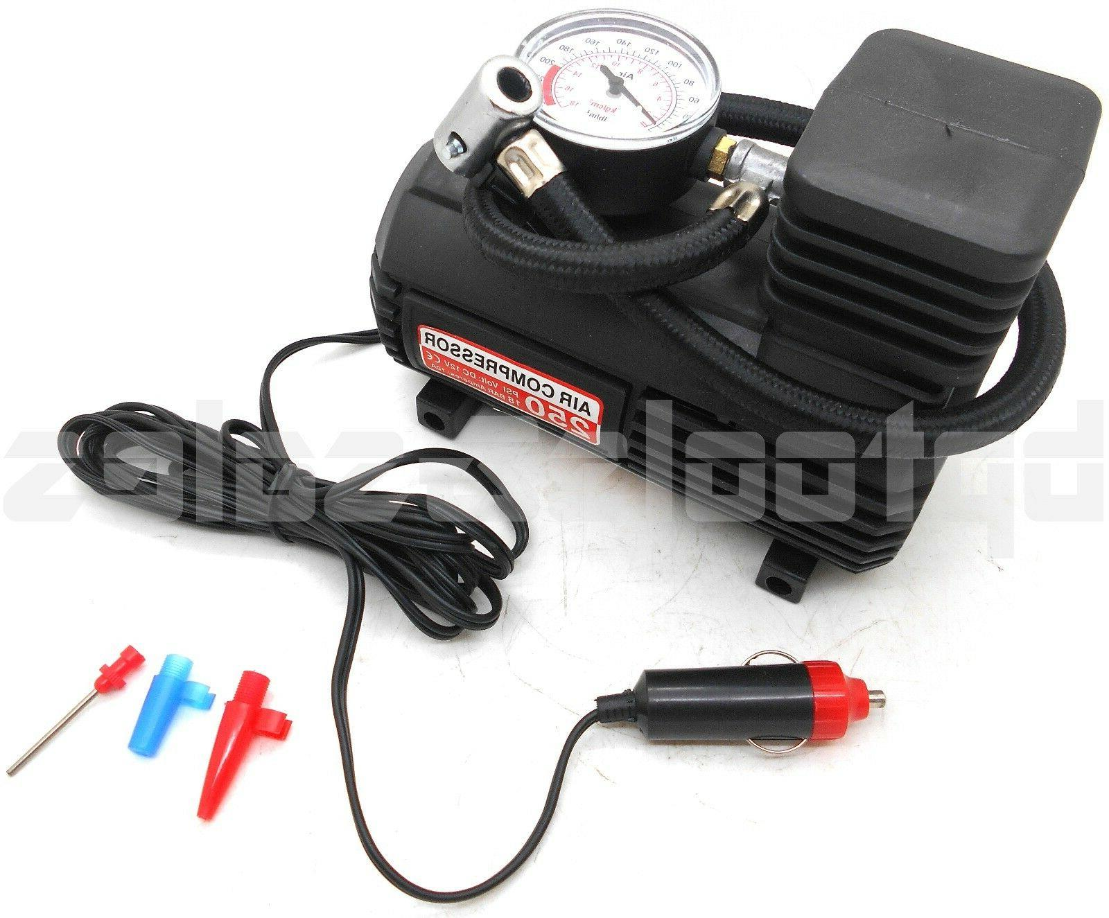 mini portable air compressor electric tire inflator
