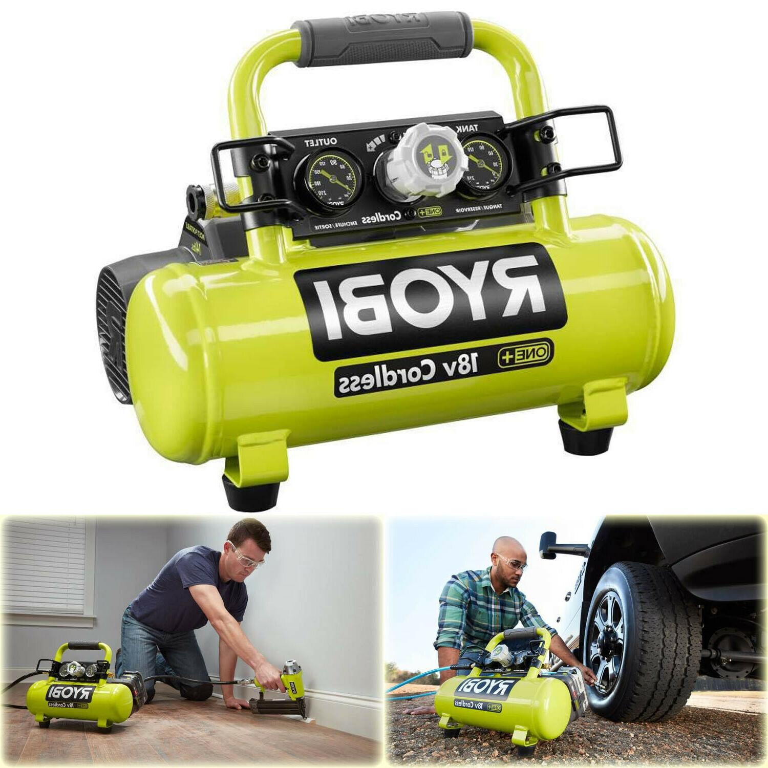 portable cordless air compressor 1 gal 18