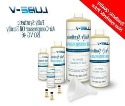 Lube-V Full Synthetic Rotary Air Compressor Oil Lubricant IS