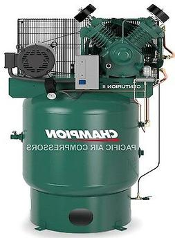 NEW 7.5hp 2 Stage 3 Phase 80Gal Vertical Champion Air Compre