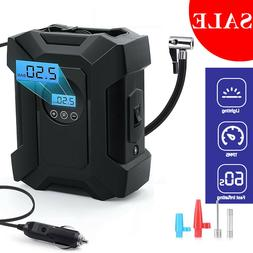 Portable Car Air Compressor Heavy Duty Inflator Tire Pump wi