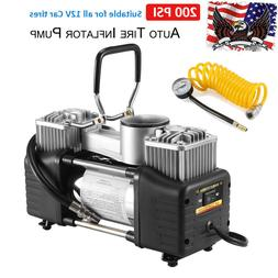 Portable Double Cylinder 12V 150PSI Car Auto Tire Inflator P