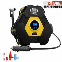 Tire Inflator Portable Digital Air Compressor Pump 12V Tire